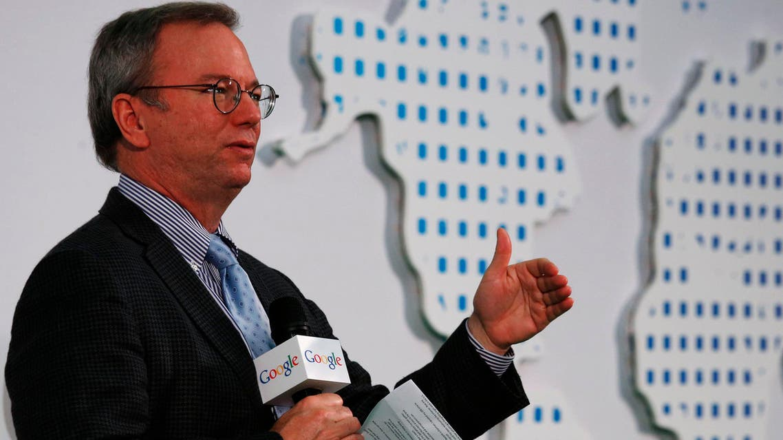 Web executive Eric Schmidt predicts that encryption will help people overcome government surveillance. (File photo: Reuters)