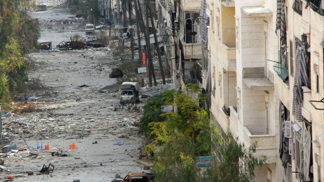 A general view shows Salaheddin street in the northern Syrian city of Aleppo on November 19, 2013. (AFP)