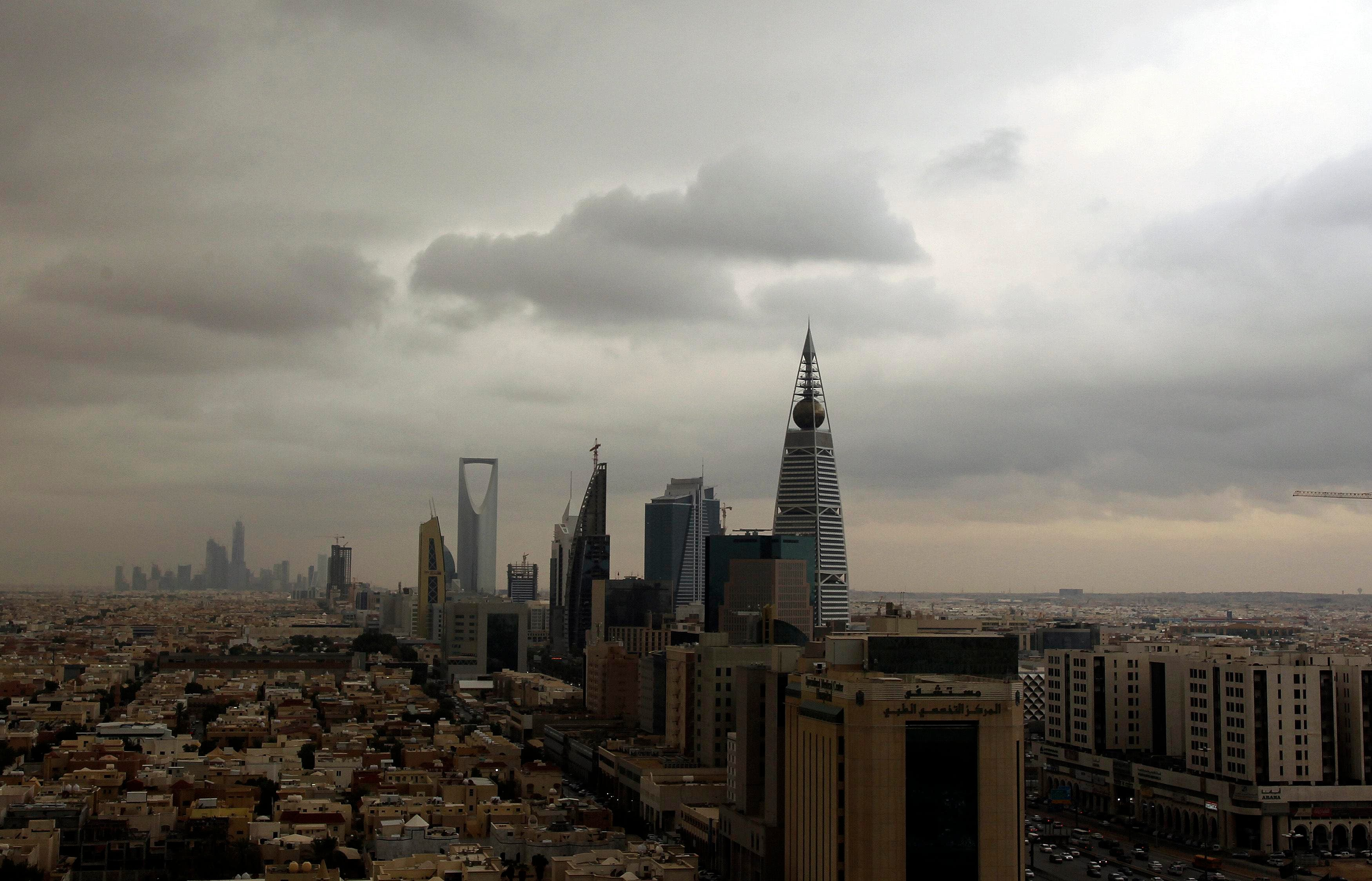 Clouds move over the Riyadh skyline Nov. 17, 2013.  (Reuters)