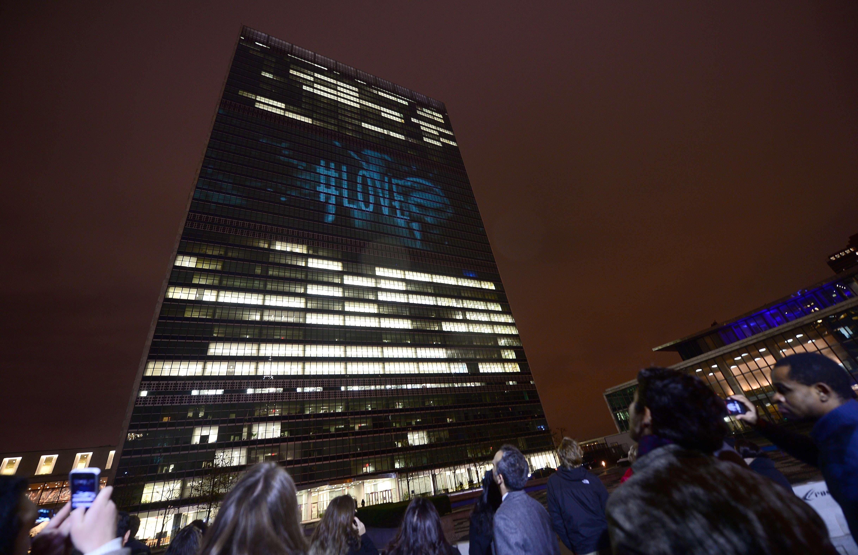 AFP UN headquartes love video