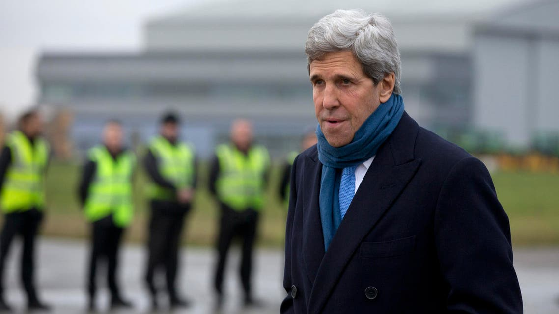 U.S. Secretary of State John Kerry arrives at London's Stansted Airport November 24, 2013. (Reuters)