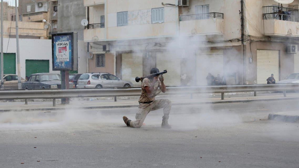 اشتباكات في بنغازي في ليبيا
