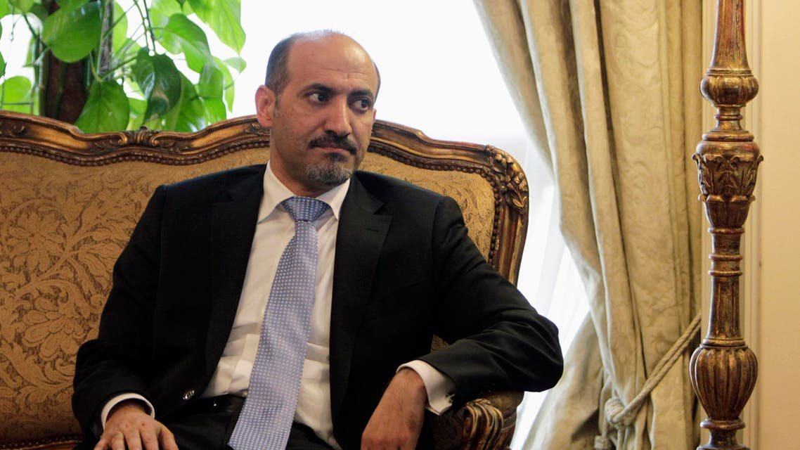 President of the Syrian National Coalition (SNC) Ahmad al-Jarba said the opposition is now ready to take the Syrian regime's seat at the Arab League. (Reuters)