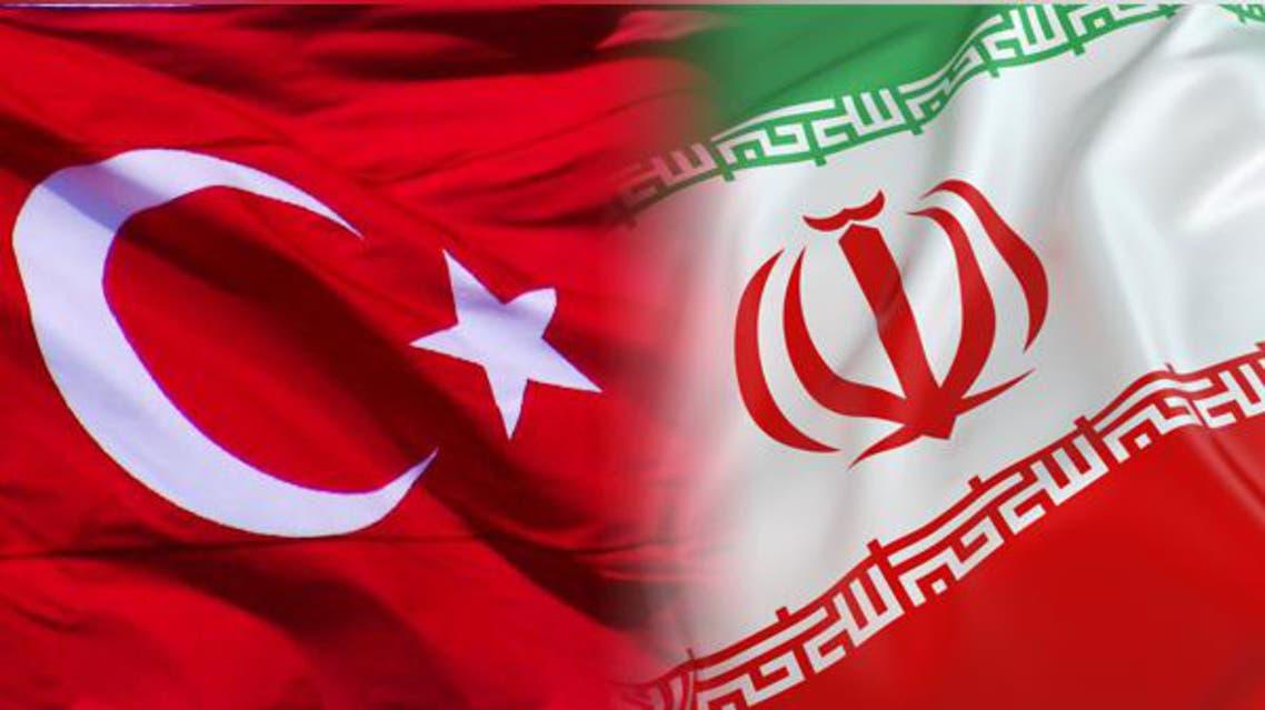 علم إيران وتركيا