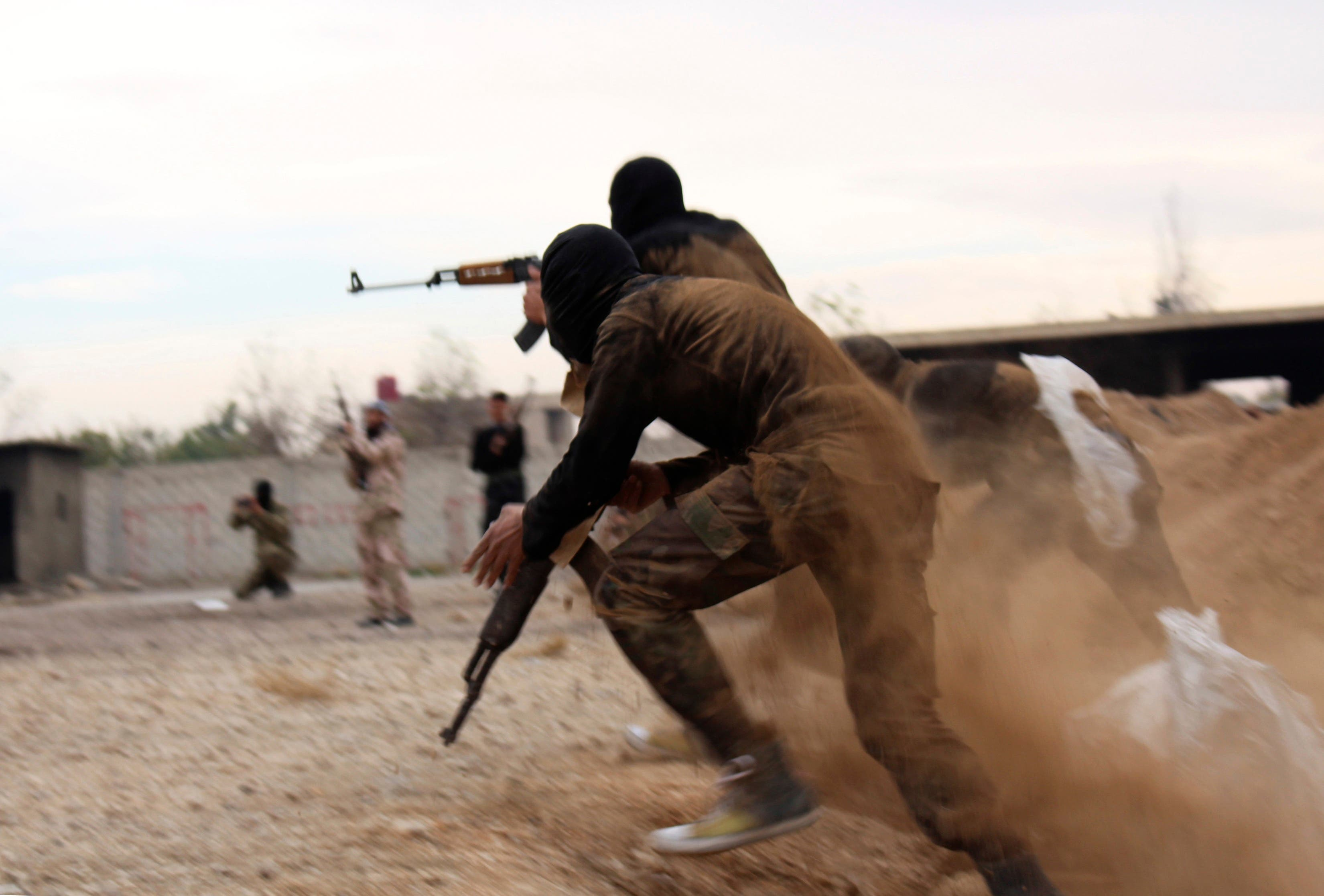 Syria's Islamist fighters show off their skills
