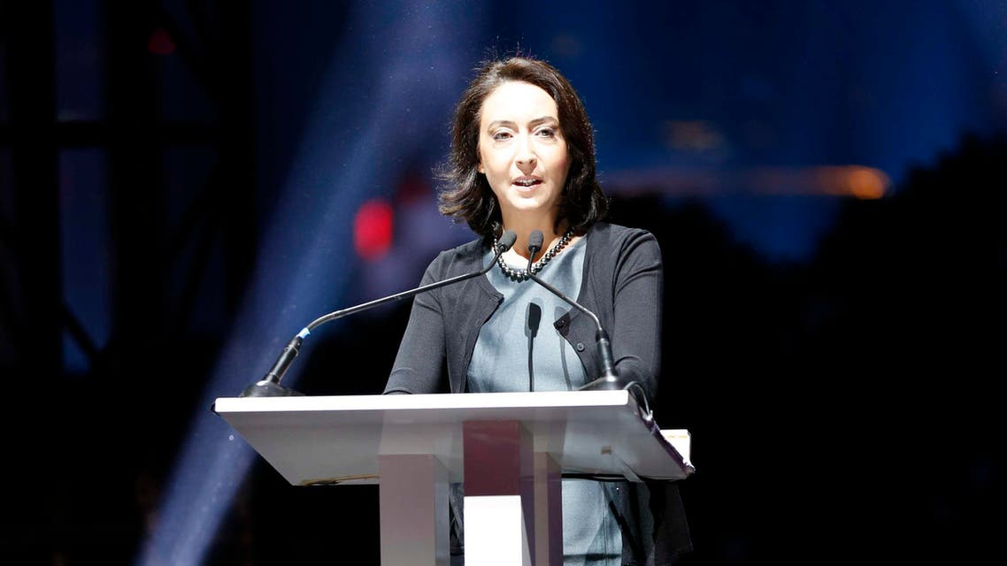 Princess Rym spoke at an event to mark the relaunch of the Al Arabiya News website and the 10-year anniversary of the Al Arabiya News Channel. (Al Arabiya)