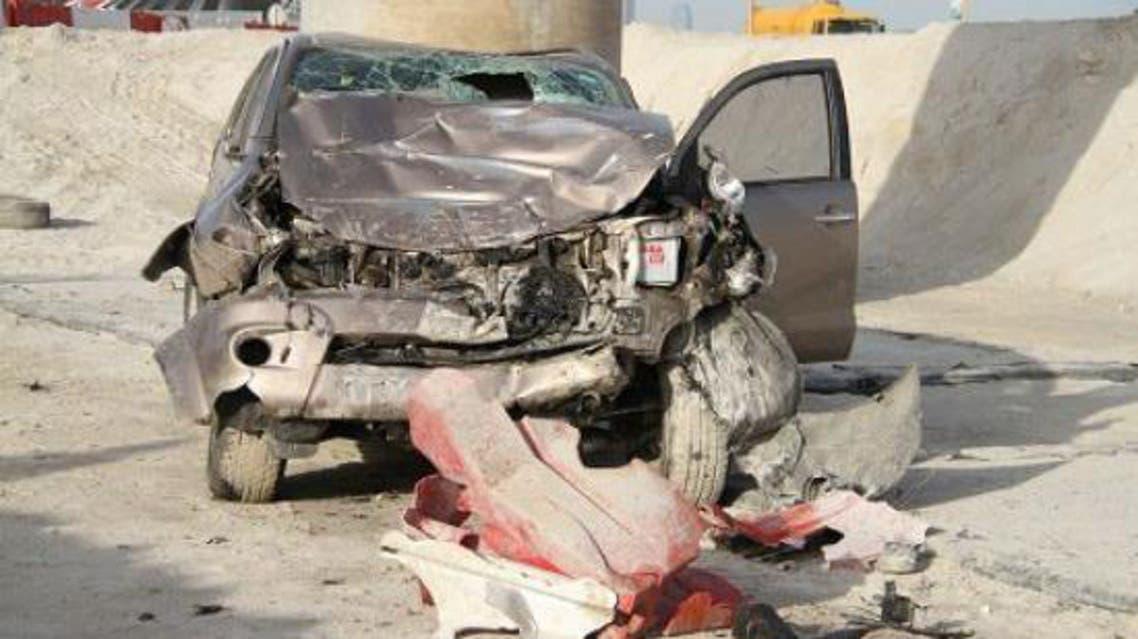 حادث سيارة في شارع الملك فيصل