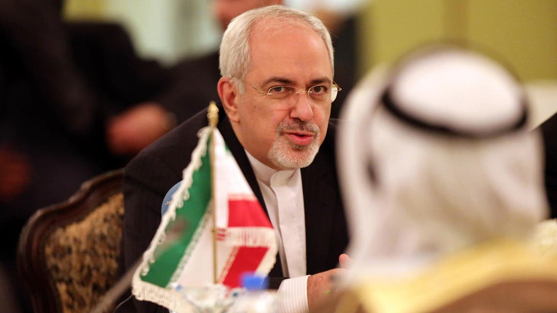 Iranian Foreign Minister Mohammad Javad Zarif speaks during the second joint high committee meeting between Kuwait and Iran at the foreign ministry in Kuwait city on Dec. 1, 2013. (AFP)