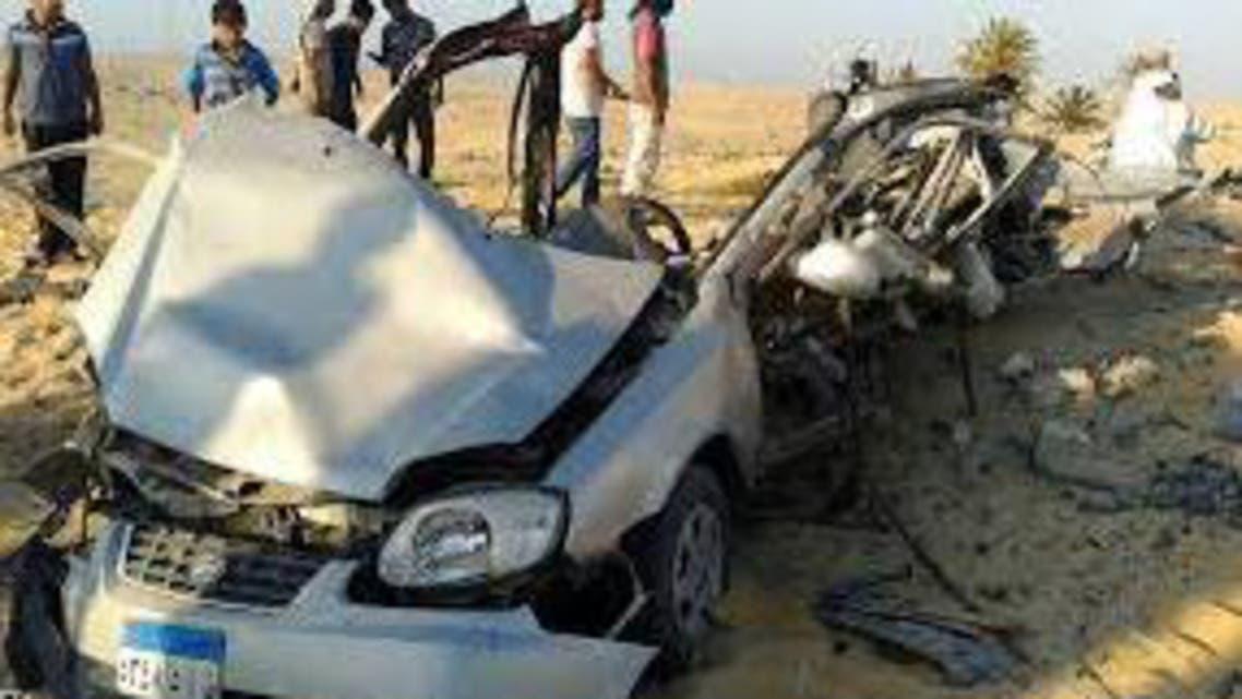 سيارة مفخخة في طريق سيناء