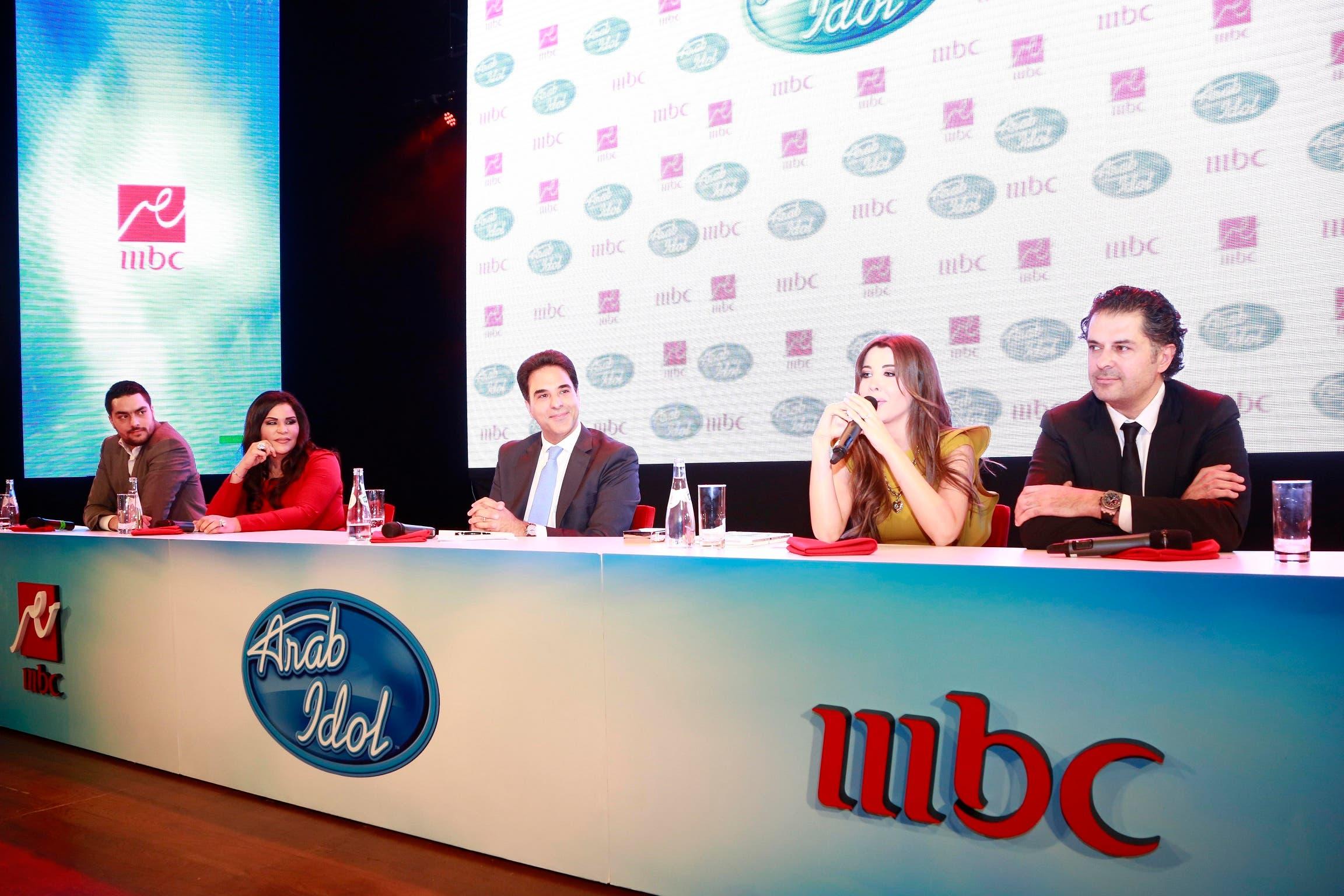 At a MBC1/MBC Masr Arab Idol 2 press conference