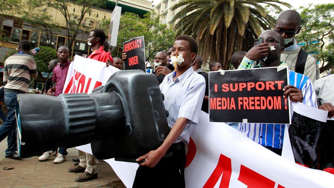 Kenyan journalists protest media bill