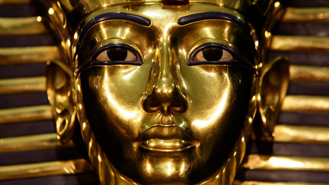 A model of Pharaoh Tutankhamen's mask is seen during the German premiere of the exhibition 'Tutankhamen-his grave and his treasures' in Munich's Olympic park April 8, 2009.