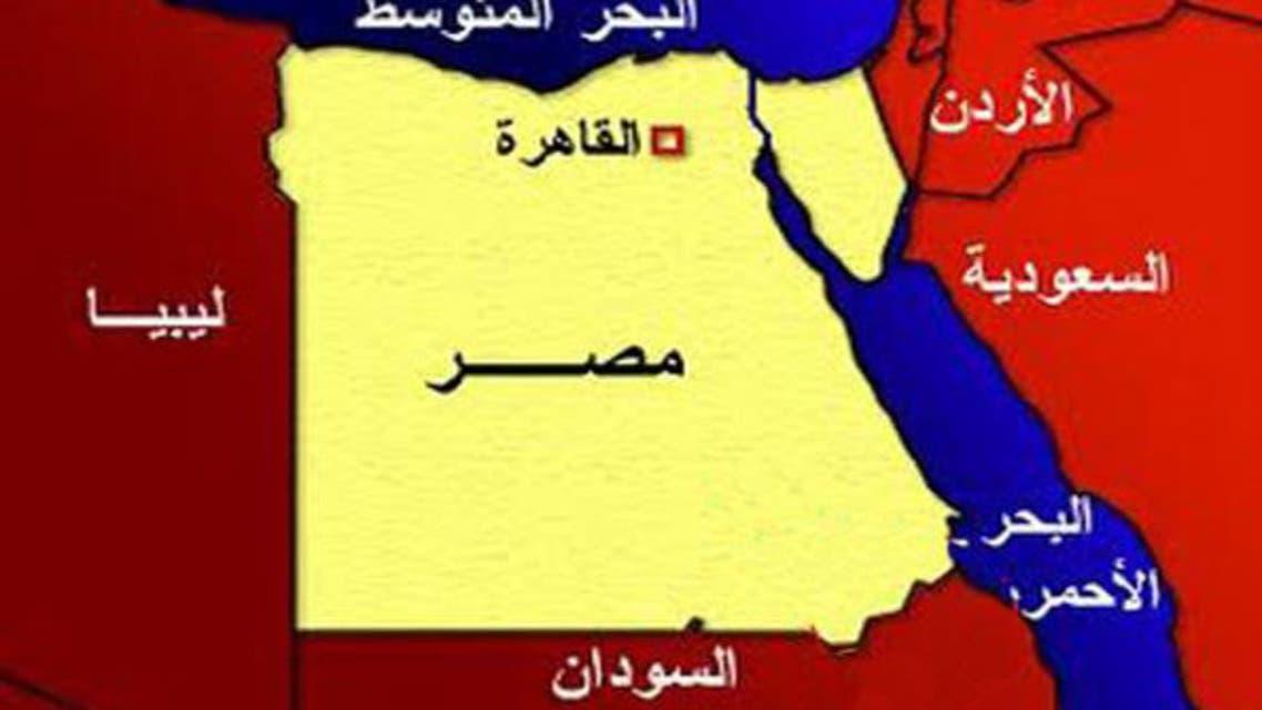 خريطة مصر وليبيا والسودان