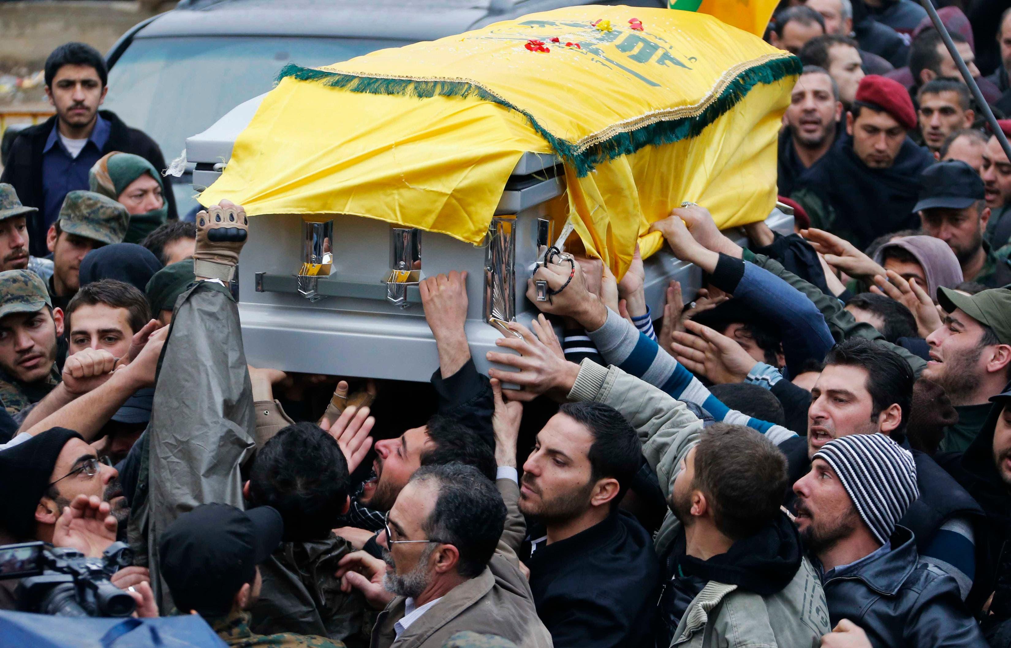 Hundreds attend funeral for slain Hezbollah commander