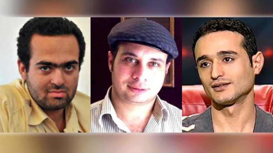 أحمد دومة وأحمد ماهر ومحمد عادل