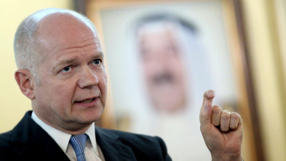 British Foreign Secretary William Hague speaks during a joint press conference with Kuwaiti Foreign Minister Sheik Sabah Khalid al-Hamad al-Sabah (unseen) in Kuwait city on December 6, 2013. AFP