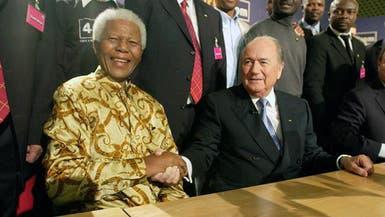 """""""الفيفا"""" يأمر بتنكيس الأعلام حداداً على وفاة مانديلا"""