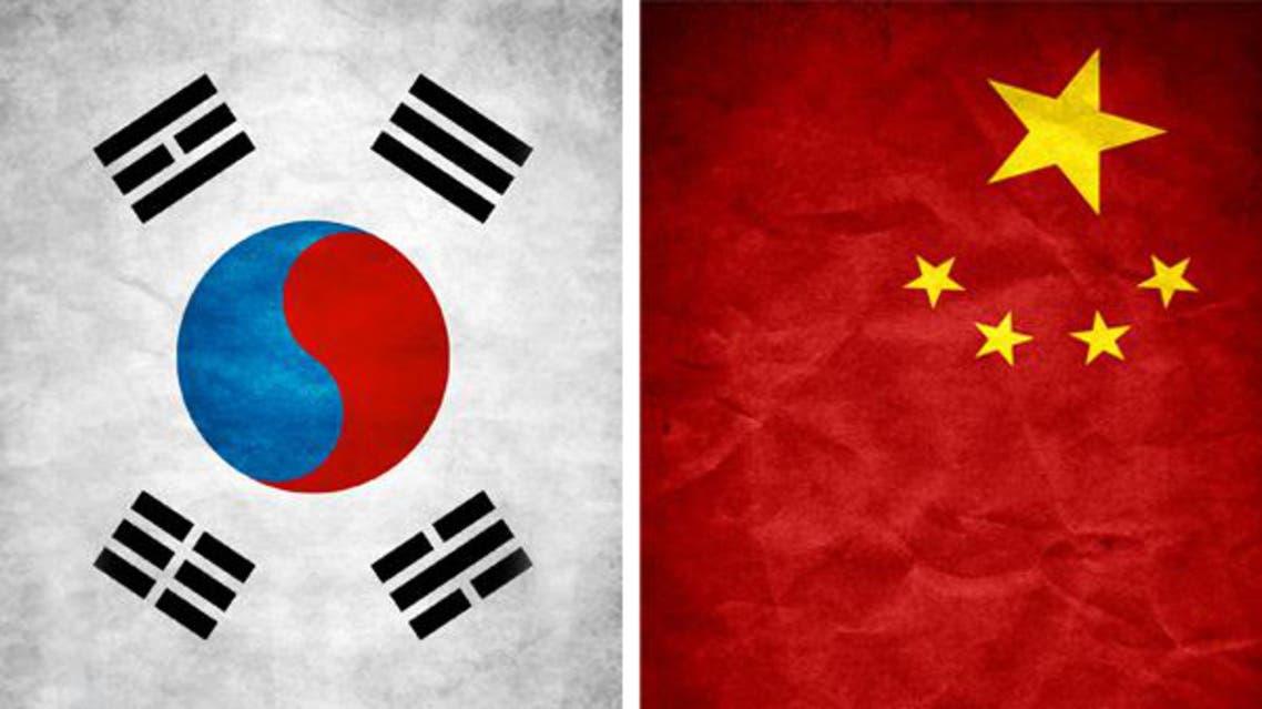 علم الصين وكوريا الجنوبية
