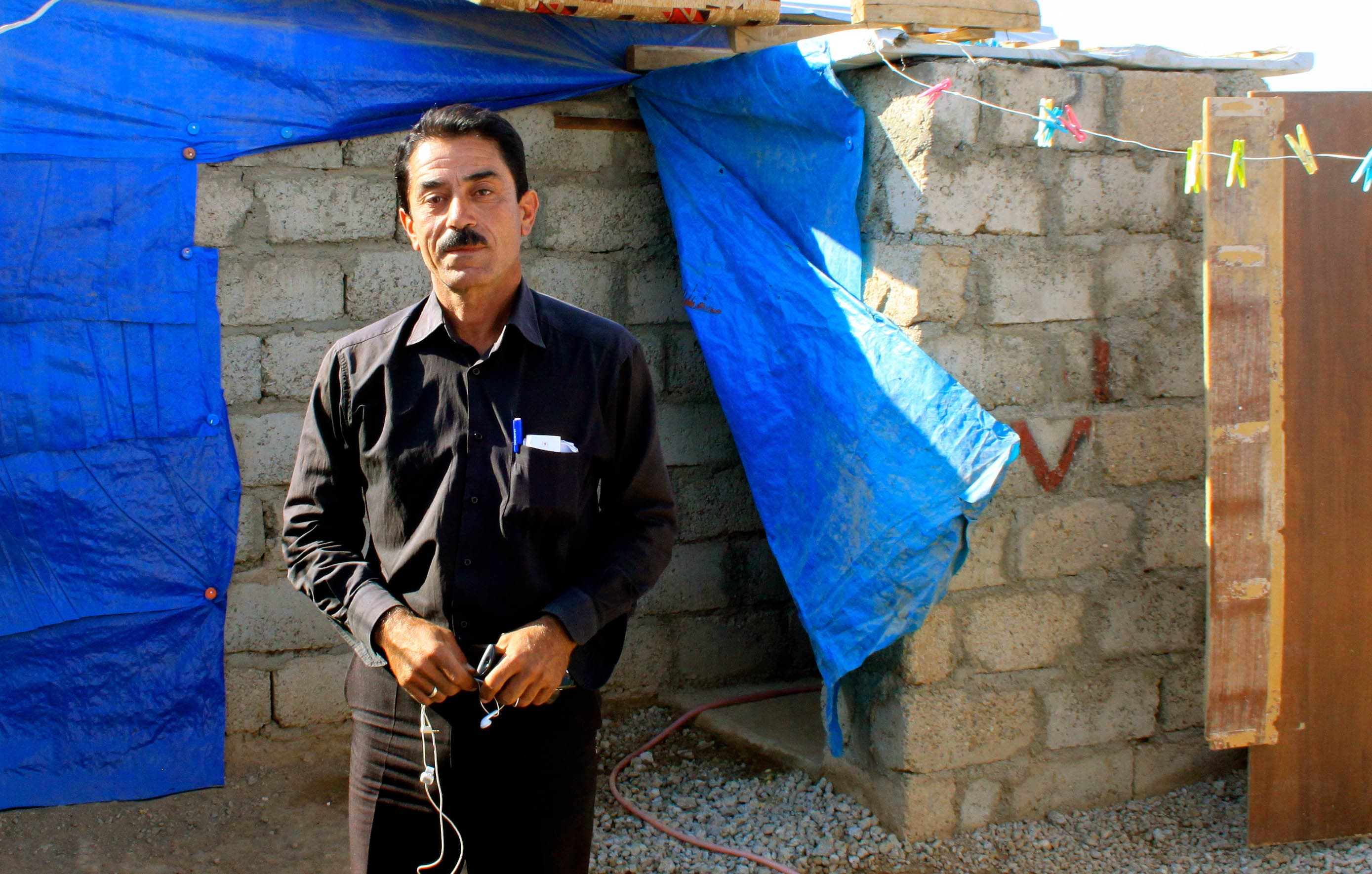 Waleed Ibrahim was a civil servant in Damacus before being run out of the city by the security services, who suspected him because he was a Kurd.