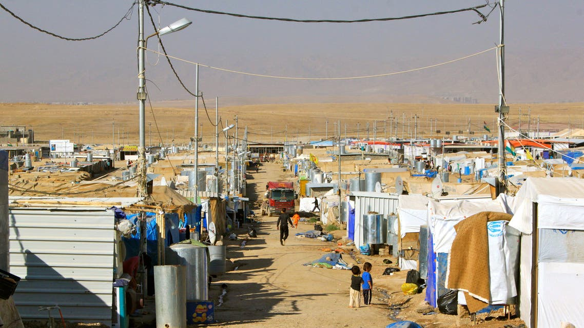 The Domiz refugee camp in Iraqi Kurdistan was designed for just 32,000 people, but now houses 45,000 or more. (Orlando Crowcroft)