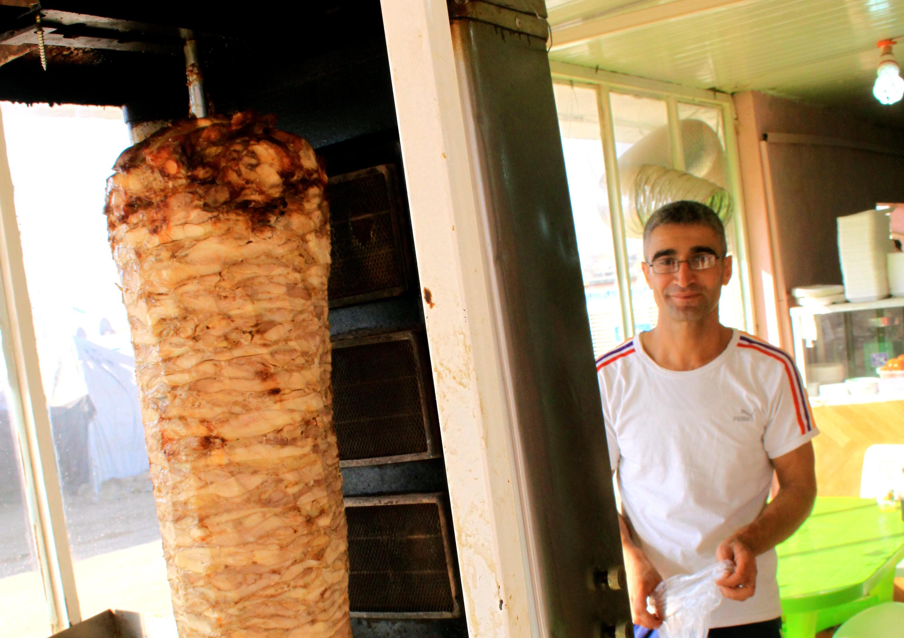 A kebab shop in the center of the camp. The owner ran a restaurant in Syria before the war.