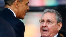 Obama shakes hands with Cuba's Castro at Mandela memorial