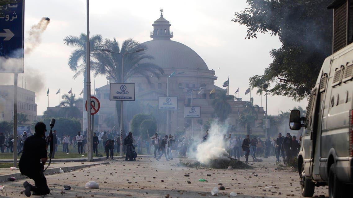 مواجهات طلاب الجامعة مع الأمن المصري