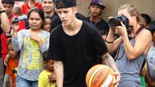 Justin Bieber visits Philippine typhoon victims