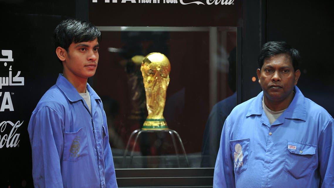 World Cup trophy lands in Riyadh, Doha