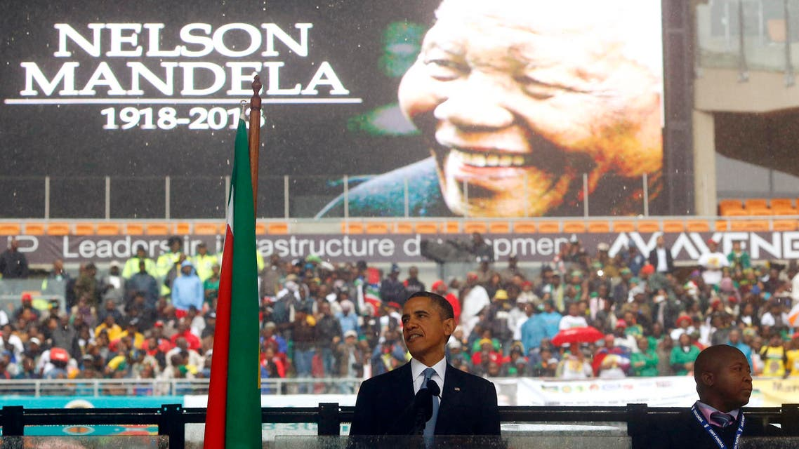 The ceremony on Tuesday, attended by Barack Obama, was part of South Africa's 10-day farewell to Mandela, the nation's first black president. (Reuters)