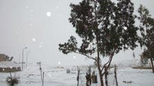 Snow and rain in Egypt