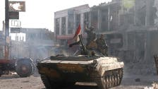 Syrian army aims to expel rebels from town on road to capital