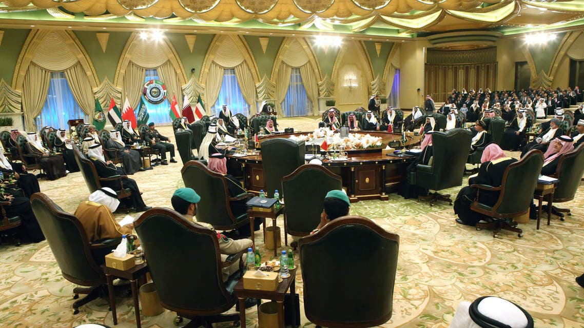 Gulf Cooperation Council (GCC) ministerial leaders gather for their 34th summit at Bayan Royal Palace in Kuwait City on Dec.10, 2013. (AFP)