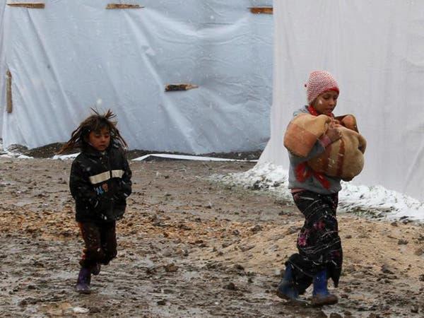 موجة صقيع تقتل 10 أطفال سوريين في المناطق المحاصرة