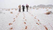 Temperature drops to below zero in Saudi Arabia