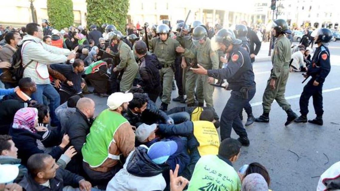 فض احتجاجات سلمية في المغرب