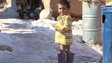 العاصفة الثلجية تحصد 12 طفلاً سورياً بالداخل والخارج