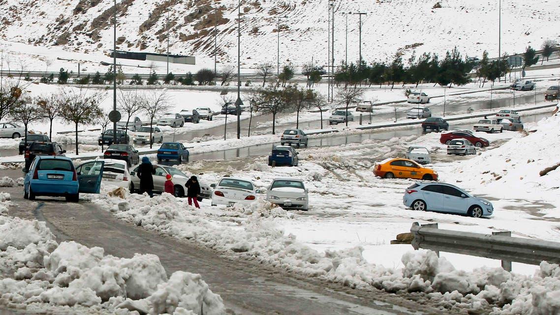 الثلوج في عمان الأردن