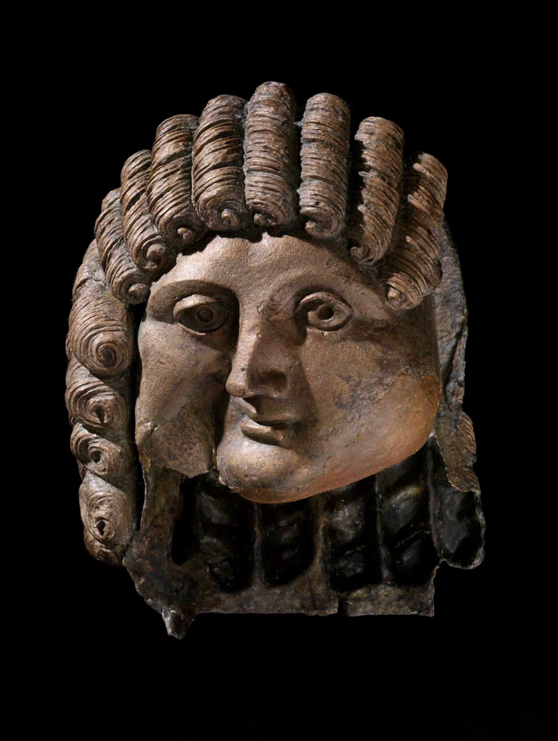 Head of a Man, Qaryat al-Faw, Saudi Arabia, 1st century BCu20132nd century AD, cast bronze, Department of Archaeology Museum, King Saud University, Riyadh