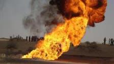 قبليون يفجرون مجدداً أنبوب تصدير النفط اليمني في مأرب