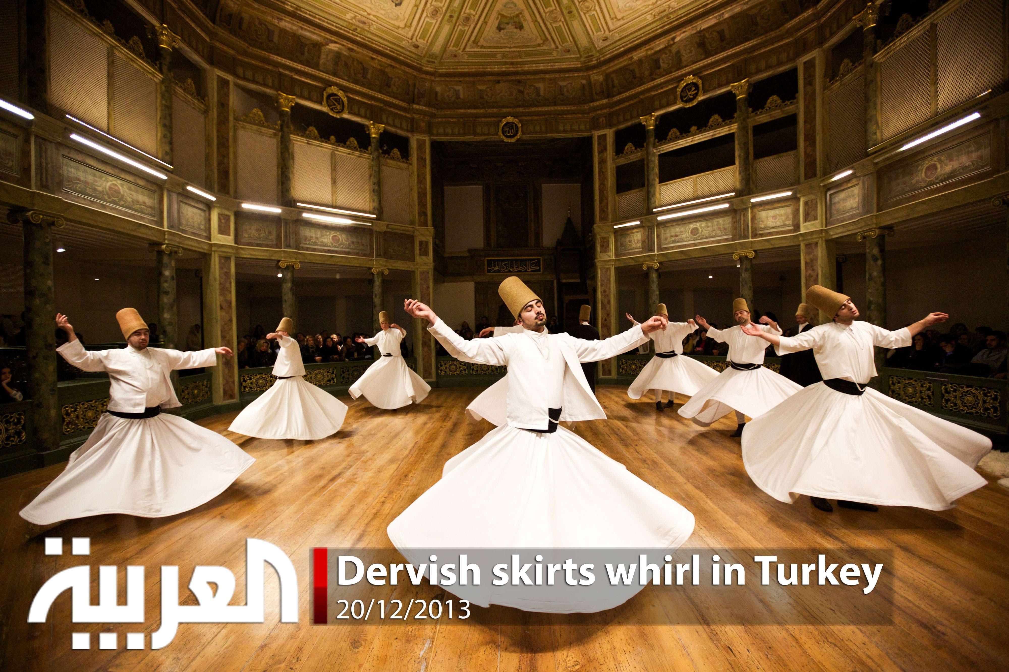 Dervish skirts whirl in Turkey