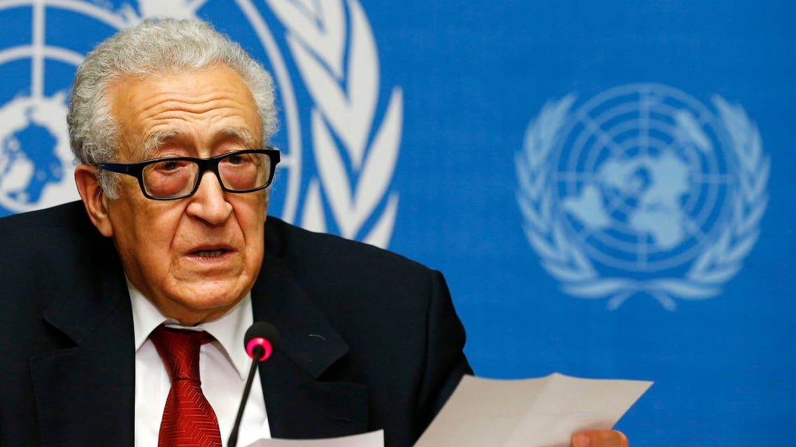 Arab League-United Nations envoy Lakhdar Brahimi addresses a news conference after a meeting on Syria at the United Nations European headquarters in Geneva Dec. 20, 2013. (Reuters)
