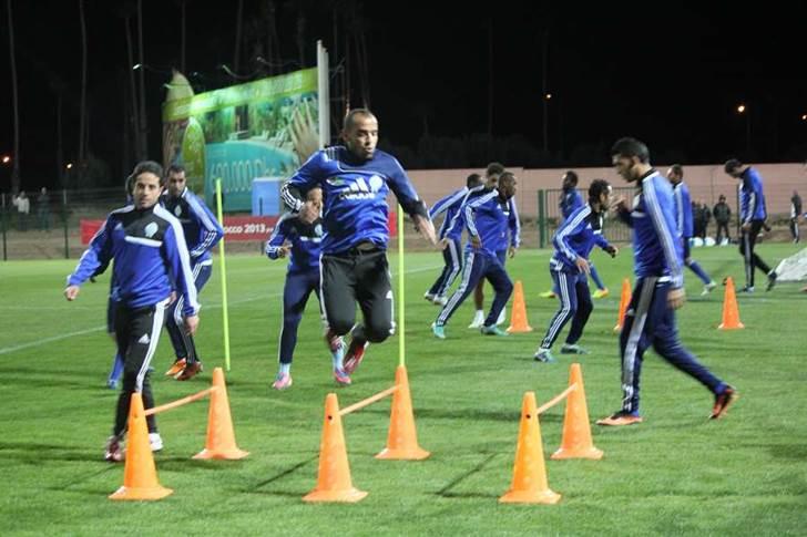 من الحصة التدريبية النهائية للرجاء في ملعب مراكش