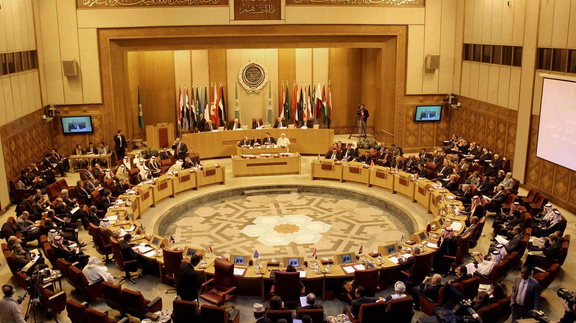 A general view shows the meeting of the Arab League Foreign ministers in the Egyptian capital Cairo on Dec. 21, 2013. (AFP)