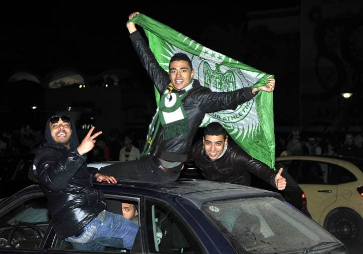 فرحة مغربية مستحقة بعد انجاز الرجاء الرياضي المغربي لكرة القدم