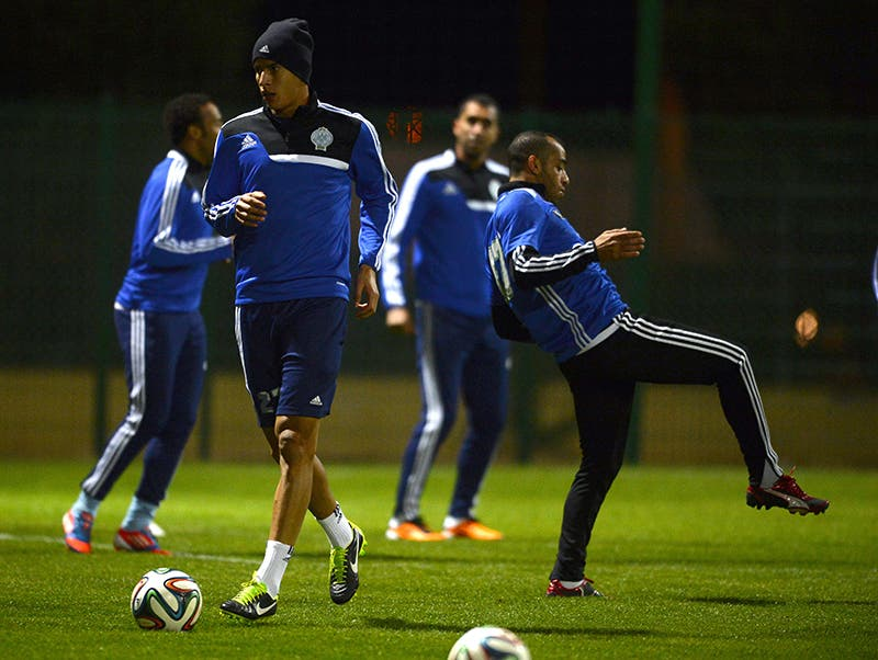 لاعبو الرجاء البيضاوي يتدربون عشية مواجهة العملاق البافاري