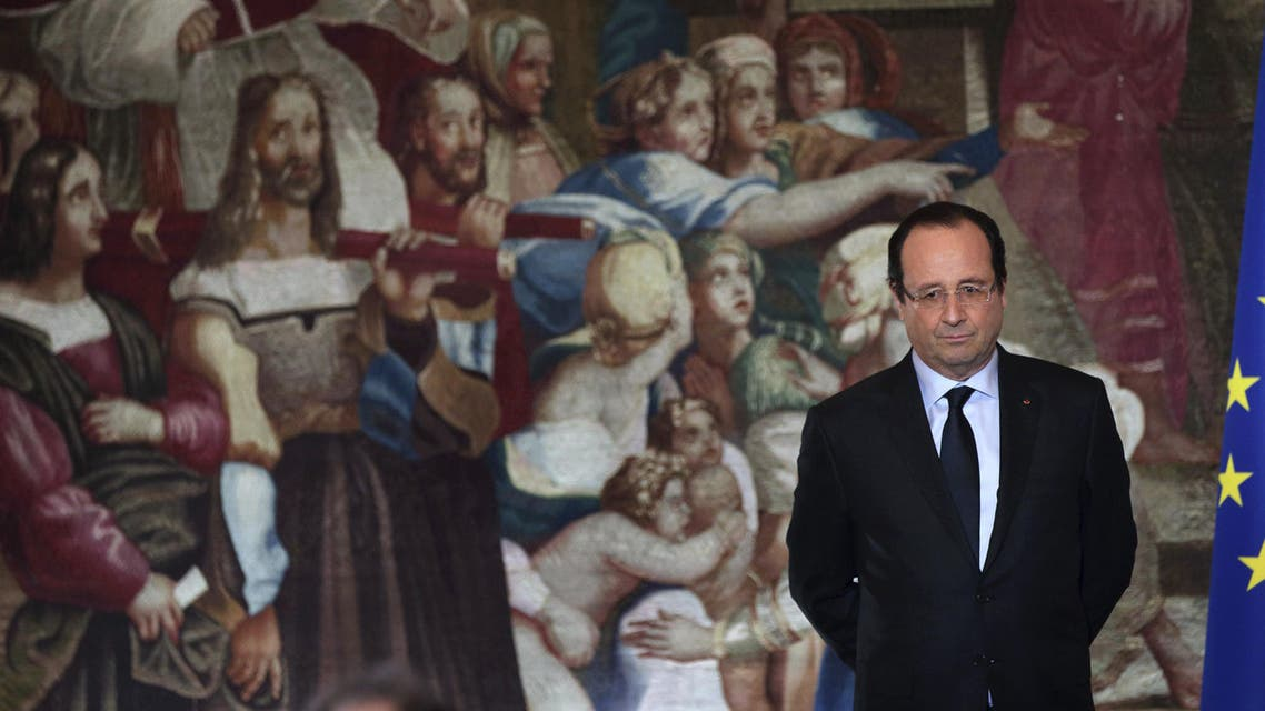 French President Francois Hollande a speech during a ceremony marking the 70th anniversary of the Representative Council of France's Jewish Associations (CRIF). (AFP)