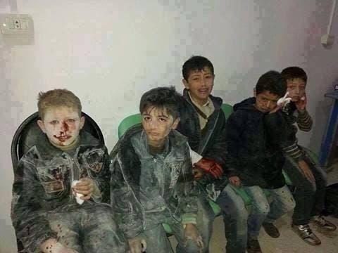 جرحى براميل متفجرة في حلب