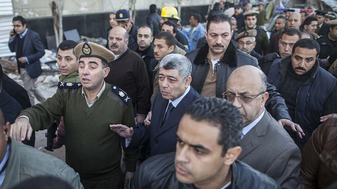 وزير داخلية مصر يشرف على إخلاء موقع تفجير الدقهلية