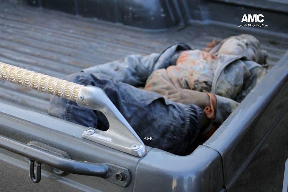 ضحية قضت في موقع سقوط براميل متفجرة في حلب